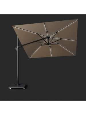 Parasol Challenger T2 Glow 3x3 Taupe