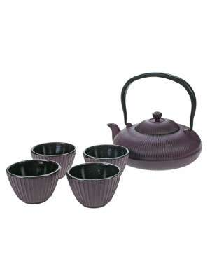 Set theepot 1,2l + 4-tassen pumpkin purple Cosy & Trendy