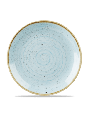 Churchill Stonecast Blue bord rond