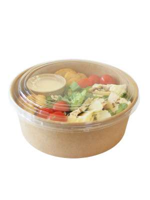 Take Away Saladebox + deksel 750ml Kraft